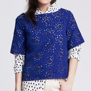 Banana Republic Monogram Laser Cut Floral Top